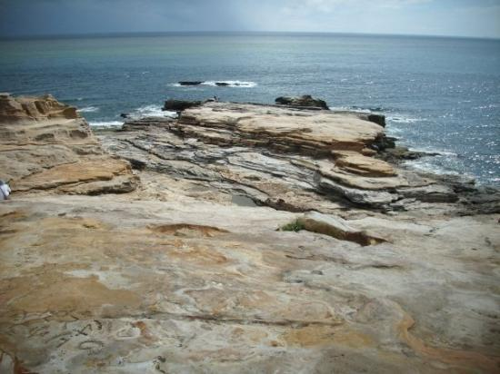 This is Senjojiki, some rock formations on the coast ...