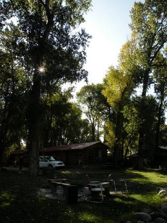 View from Rio Chama, looking up to Spruce Lodge