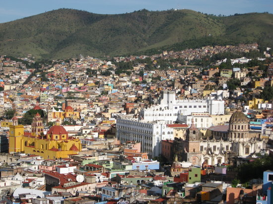 View from above of Guanajuato (Univeristy in center)