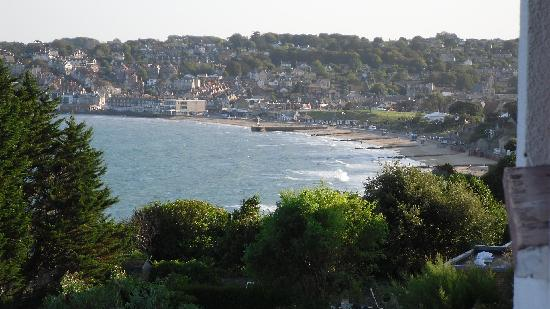 Swanage, UK: View from our balcony