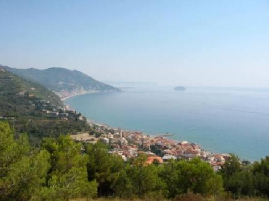 Andora, Italy: view from colla micheri hill