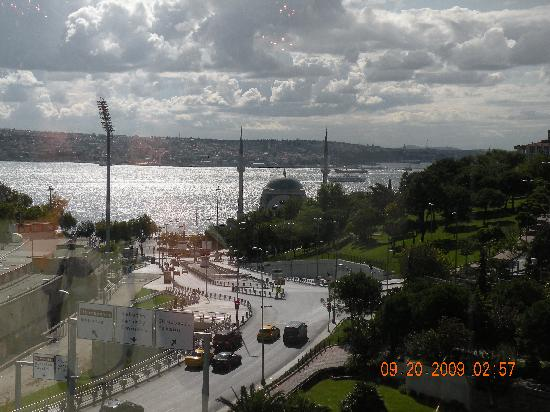 View from lobby picture of the ritz carlton istanbul for Terrace 33 makati