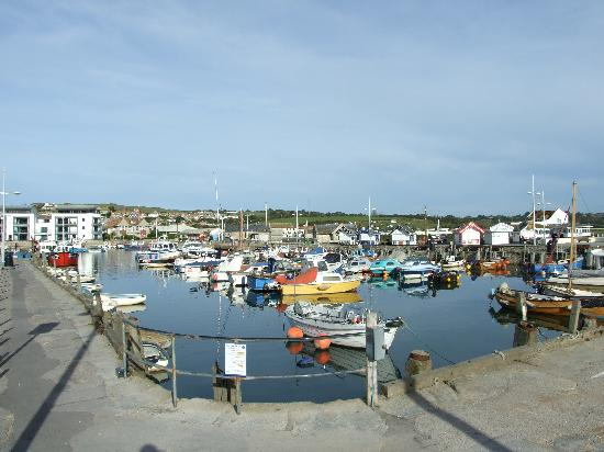 Bridport, UK : West Bay Inner harbour.