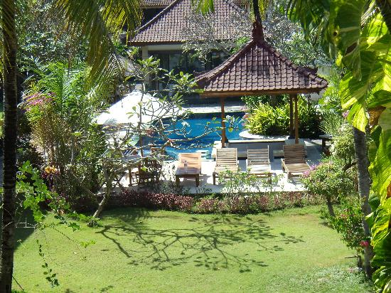 Taman Agung Hotel: garden view to pool