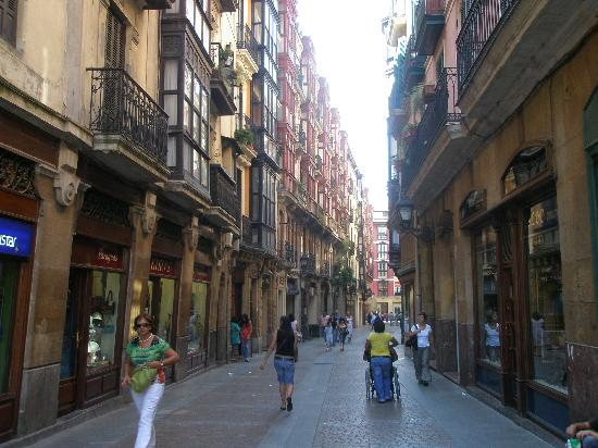 Bilbao Old Town 10 minute walk from Hotel Bilbi