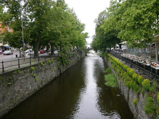Fyris river in Uppsala, Sweden