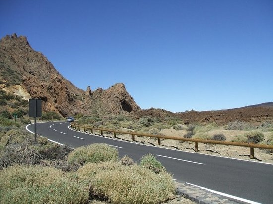 Los Cristianos, Spanien: Mountain road