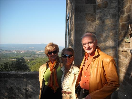 Villa Astreo: My husband and I with Roseanna, aka Rompicollo