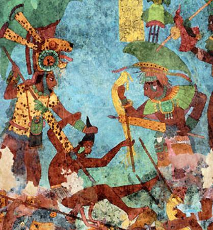Bonampak murals picture of chiapas southern mexico for Bonampak mural painting
