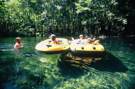 Lake City, Floride : Tubing on the Ichetucknee