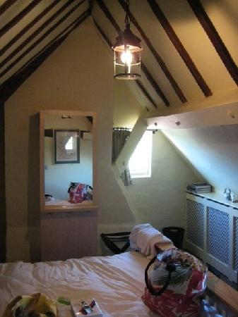 Shakespeare House: our room resplendant with beams