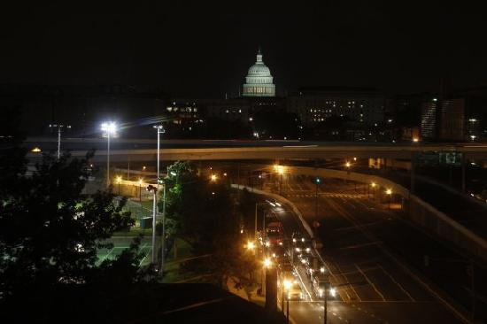 Capitol Skyline Hotel: View from our room at night