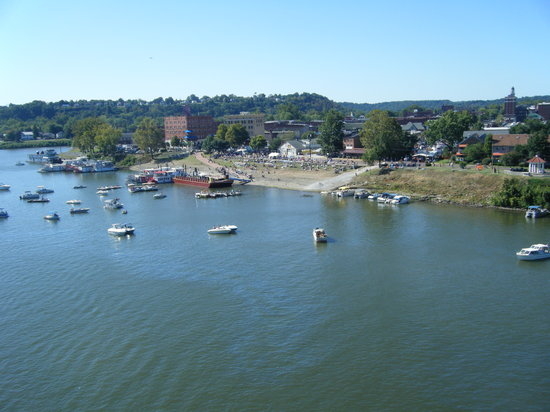 View of the Festival/Marietta from the bridge.