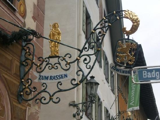 Bavaria, Germany: Zum Rassen sign