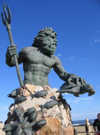 Statue Of Neptune Aka Poseidon At Virginia Beach Oceanfront Picture Of Virginia Beach