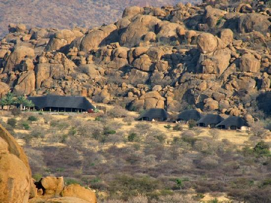 Omaruru, Namibia: seen from a nearby rock outcropping