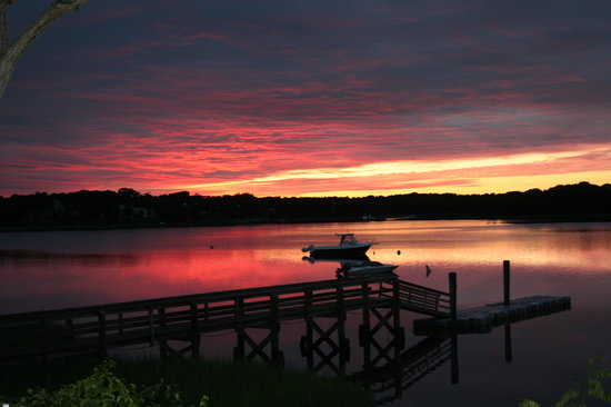 Mashpee, MA: The Sun Set from our backyard