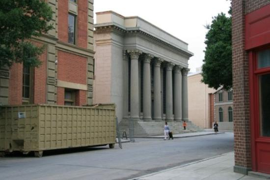 Burbank, : The Warner backlot.  This was used as Gotham City Hall in the original Batman TV show.