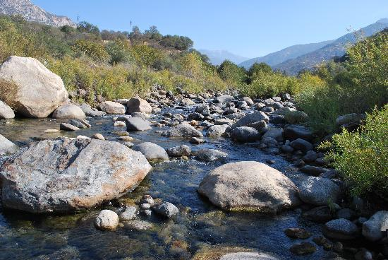 Three Rivers, Kalifornia: The River - it was low when we were there