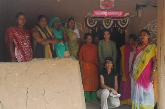 With Village women in surat district