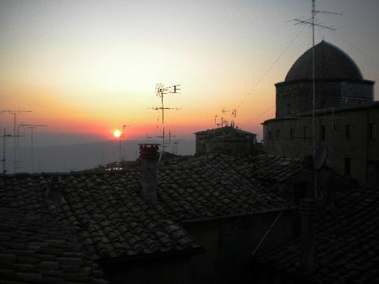 Camere Renzi: sunset from terrace