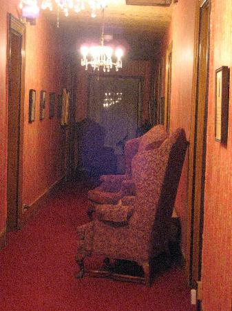 Cimarron, NM: hallway from our room - see orb