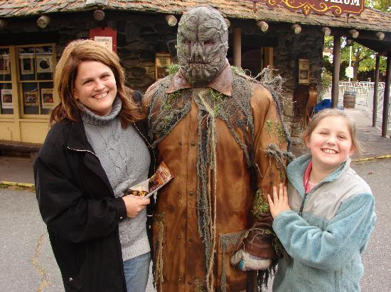 Canobie Lake Park: The monsters love to pose for pics. after they chase you!