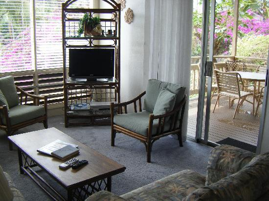 Poipu Crater Resort: living room of unit #23