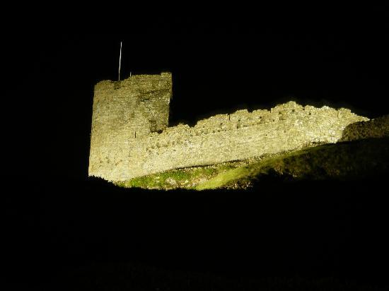 Marine Hotel: the castle at night time.
