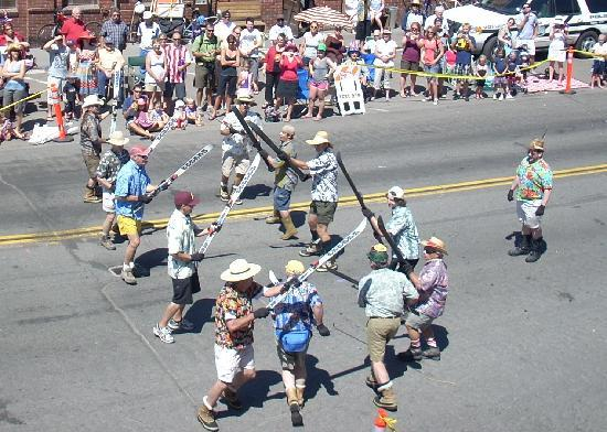 Truckee Hotel: Drill team: 4th of July Parade, Truckee