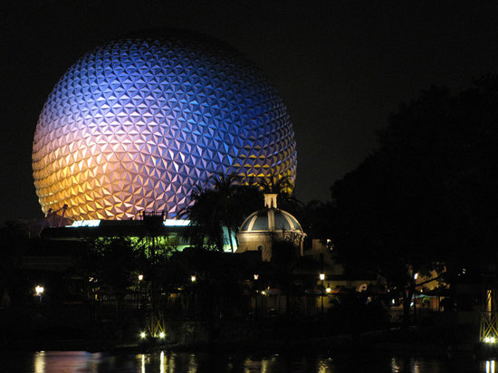 Orlando, FL: Epcot Ball at Night