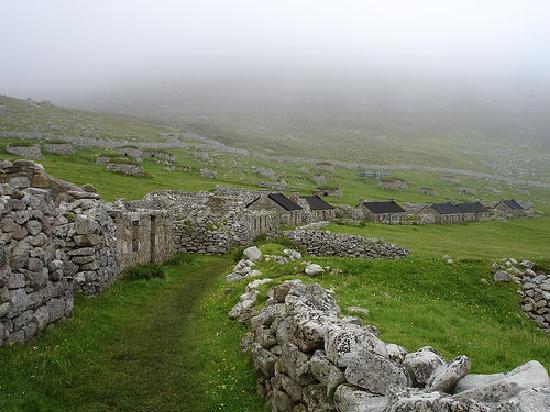 The Hebrides, UK: Some of the houses restored on Main Street