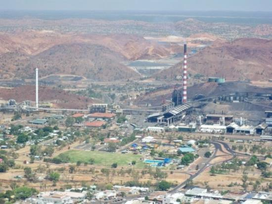 Mount Isa from the sky.