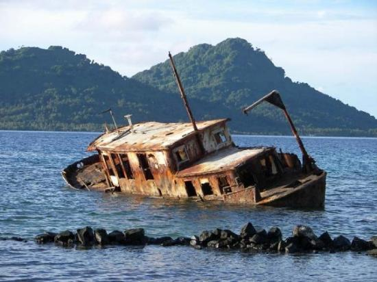 Chuuk, Federated States of Micronesia.  North side of Blue Lagoon Dive Resort