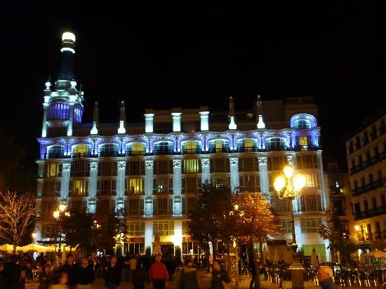 Front Of Hotel From Plaza Santa Ana By Night Picture Of