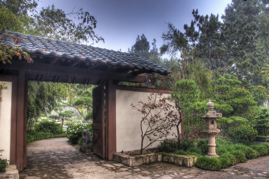 Long Beach, Californien: Entrance to Earl Burns Miller Japanese Garden CSULB