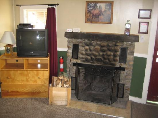 Wood Burning Fireplace And Cable Tv Picture Of Pemi