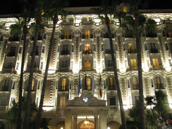 carlton by night picture of intercontinental carlton cannes cannes tripadvisor. Black Bedroom Furniture Sets. Home Design Ideas