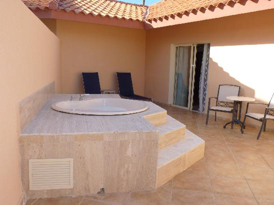 The outdoor Jacuzzi on our balcony - Picture of Majestic Elegance ...