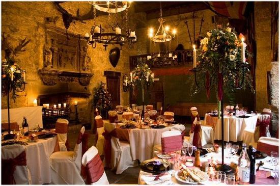 Chillingham Castle: Reception in Minstrals Gallery