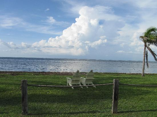 Bokeelia Tarpon Inn: Chairs for happy hour - bring bug spray!!