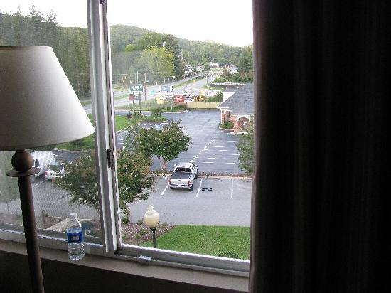 Holiday Inn Express Hotel & Suites Brevard : View out the room. 276 is right on the corner.