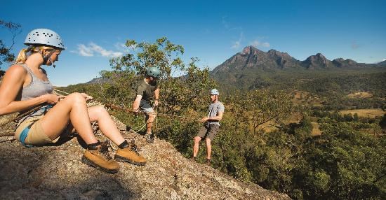 Mt Barney Lodge Country Retreat: Abseiling at Mt Barney Lodge - photo courtesy of Tourism Qld
