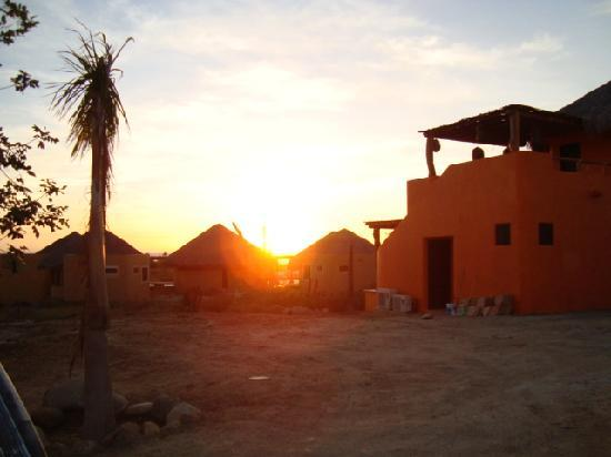 CalyCanto Casitas: Sun setting over the casitas.