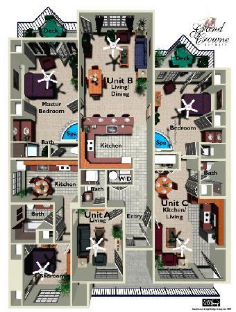 Grand Crowne Resort: Floor Plan