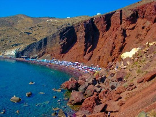 Akrotiri, Griechenland: Red Beach, Santorini