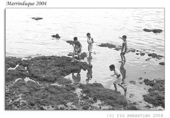 Marinduque Island, Filippinene: Kids on the Shores of Gasan, Boac, Marinduque