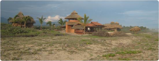 Playa Viva: View of Common Area with pool and dinning room - all food included in stay