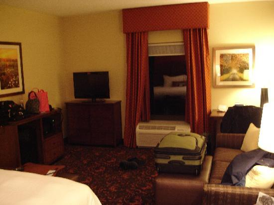 Hampton Inn and Suites Woodstock, VA: Living area