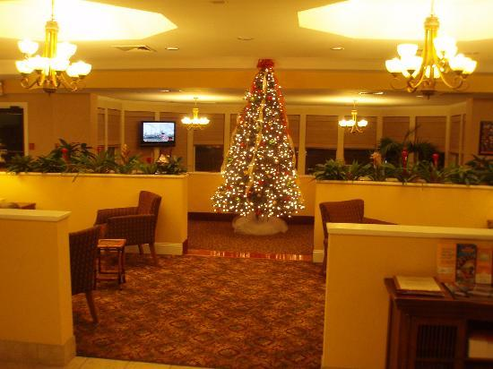 La Quinta Inn & Suites Valdosta / Moody AFB: Lobby decorated for Christmas